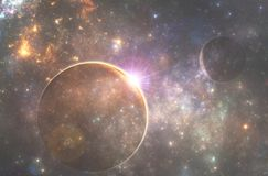 Głęboka astronautycznego obcego planeta Fotografia Royalty Free