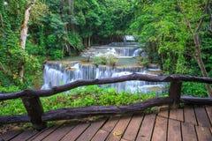głęboka lasowa kanchanaburi Thailand siklawa Fotografia Stock