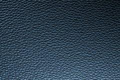 Głęboki błękitny rzemienny tekstury tło dla projekta Obrazy Royalty Free