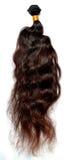 Głęboki falisty brown włosy zdjęcia royalty free