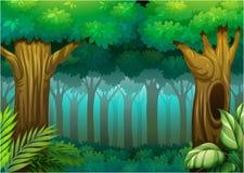 Głęboki las ilustracja wektor