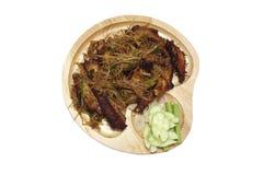 Głęboki pieczony kurczak uskrzydla z lemongrass, Tajlandzki jedzenie Zdjęcie Royalty Free
