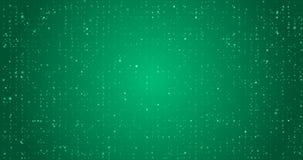 Głęboki - zielony migotanie zapętlający świąteczny tło Kolorowy małe kropki w to samo barwi zdjęcie wideo