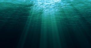 Głębokie błękitne karaibskie ocean fala od podwodnego tła Obraz Royalty Free