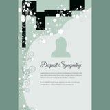 Głębokiego współczucia wektorowy literowanie w abstrakta stylu, miejsce dla teksta i fotografia, ilustracja wektor