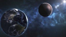 Głębokiej przestrzeni piękno, planety, gwiazdy i galaxies w niekończący się univer, ilustracja wektor