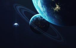 Głębokiej przestrzeni sztuka Wspaniały dla tapety i druku Elementy ten wizerunek meblujący NASA Obrazy Stock
