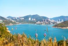 Głębokiej Wody Podpalany sceniczny na pogodnym niebieskie niebo dniu hong kongu wyspy Zdjęcie Royalty Free