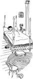 głębokość pola płycizny sypialna kobieta Obrazy Stock