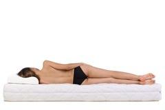 głębokość pola płycizny sypialna kobieta Zdjęcia Stock