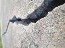 Głęboko krakingowy beton obrazy royalty free