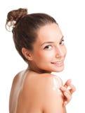Gładki brunetki piękno Zdjęcia Royalty Free