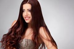 Gładki Długie Włosy. Wysokiej jakości wizerunek Fotografia Royalty Free