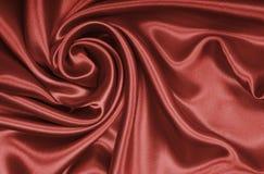 Gładki elegancki brown czekoladowy jedwab jako tło Zdjęcia Royalty Free