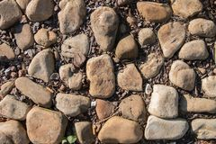 Gładzi skały w ostrości obraz stock