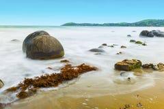głazy suną moeraki nowy pokojowy Zealand Fotografia Royalty Free
