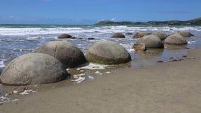 głazy suną moeraki nowy pokojowy Zealand zbiory wideo