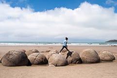 głazy suną moeraki nowy pokojowy Zealand Zdjęcia Royalty Free