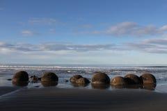 głazy suną moeraki nowy pokojowy Zealand Obraz Stock