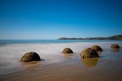 głazy suną moeraki nowy pokojowy Zealand Fotografia Stock