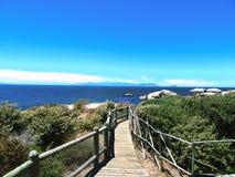 Głazy Wyrzucać na brzeg Południowa Afryka zdjęcia stock