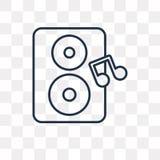 Głośnego Woofer pudełka wektorowa ikona odizolowywająca na przejrzystym tle, ilustracja wektor