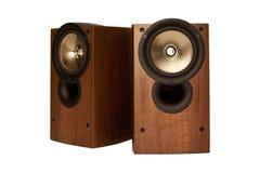 Głośnik w drewnianym gabinecie, odizolowywającym Obrazy Royalty Free