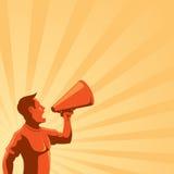 głośnika mężczyzna Fotografia Royalty Free