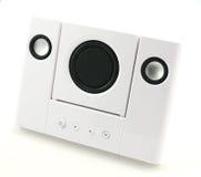 głośniki stereo white Obrazy Stock