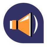 Głośnikowa lub muzyczna ikona ustalony tricolor Obraz Stock