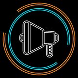 Głośnikowa tomowa ikona - audio głosu dźwięka symbol ilustracja wektor