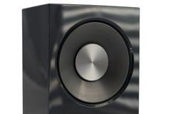 Głośnikowy hi fi audio zakończenie up odizolowywający Zdjęcie Royalty Free