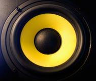 głośnikowy kolor żółty Obrazy Stock