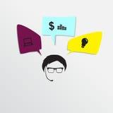 Głośnikowy mężczyzna bąbla graficznej osoby mowy target14_0_ wektor Obrazy Stock