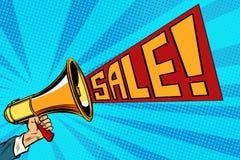 Głośnikowy megafon sprzedaży tekst Obrazy Royalty Free