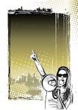 Głośnikowy plakatowy tło Zdjęcia Royalty Free