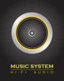 Głośnikowy system ilustracji