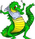 Głodny krokodyl ilustracja wektor
