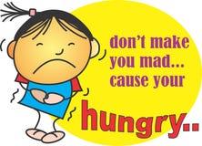 Głodny może robić ciebie szalenie Obraz Royalty Free