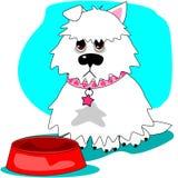Głodny pies & opróżnia naczynie ilustracja wektor