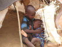 głodu obozowy uchodźca Somalia Zdjęcie Stock