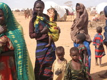 głodu obozowy uchodźca Somalia obraz royalty free