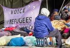 Głodu strajk uchodźcy Fotografia Royalty Free
