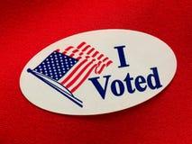 Głosowałem zdjęcie stock