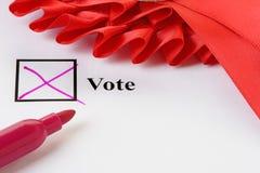 głosowania Zdjęcie Stock