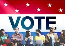Głosowanie Głosuje wybory decyzi demokraci Społeczeństwo pojęcie fotografia stock