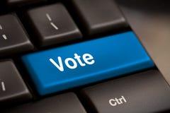 Głosowanie guzik zdjęcia stock