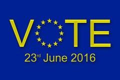 Głosowanie na 23 2016 Czerwu ilustracji