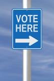 Głosowanie Tutaj Zdjęcia Royalty Free