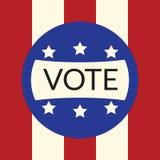 Głosujący pojęcie głosowaniem styl zaznacza usa Zdjęcie Stock
